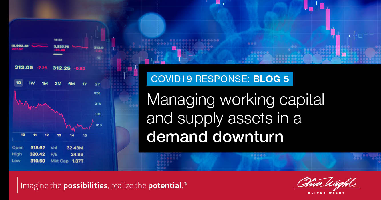 Managing working capital and supply assets in a demand downturn