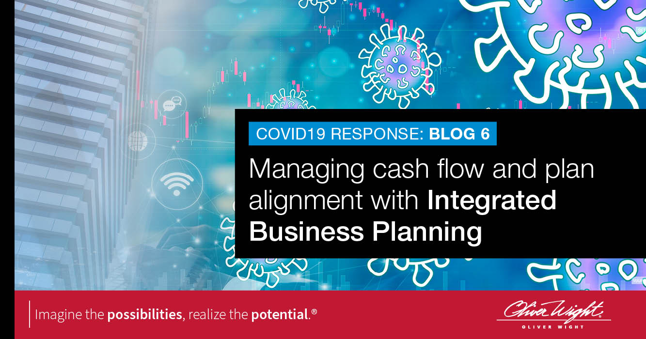 Managing cash flow and plan alignment with Integrated Business Planning
