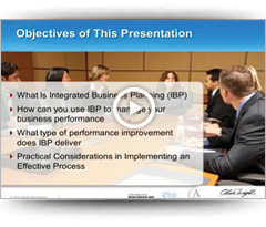 Drive Business Performance with Integrated Business Planning - Webinar March 2014